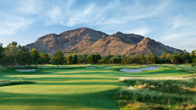 The 13th hole of the Ambiente Course at Camelback Golf Club in Paradise Valley, Arizona.